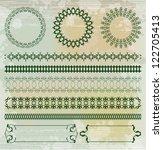 pattern elements background... | Shutterstock .eps vector #122705413