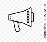 bullhorn vector linear icon... | Shutterstock .eps vector #1227055249