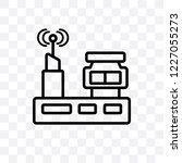 radio antenna vector linear... | Shutterstock .eps vector #1227055273