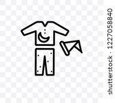 pijama vector linear icon...   Shutterstock .eps vector #1227058840