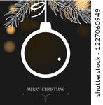 christmas background with ball. ...   Shutterstock .eps vector #1227060949