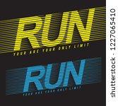 running sport typography  tee... | Shutterstock .eps vector #1227065410