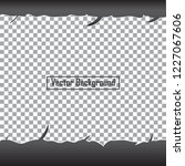 ripped paper on transparent... | Shutterstock .eps vector #1227067606