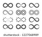 black infinity symbols.... | Shutterstock .eps vector #1227068989