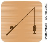 fishing rod icon. vector... | Shutterstock .eps vector #1227069853