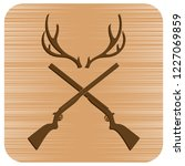 hunting club logo icon. vector... | Shutterstock .eps vector #1227069859