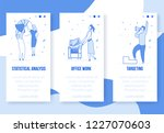 modern cartoon flat characters... | Shutterstock .eps vector #1227070603
