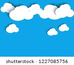 cloud background with shadow | Shutterstock .eps vector #1227085756