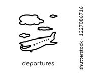 departures icon. trendy modern... | Shutterstock .eps vector #1227086716