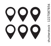 maps pin. location map icon.  | Shutterstock .eps vector #1227087856
