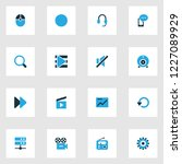 media icons colored set with... | Shutterstock . vector #1227089929