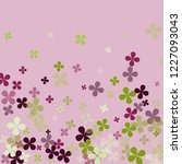 pastel violet background with... | Shutterstock .eps vector #1227093043