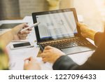 two businessman investment... | Shutterstock . vector #1227096433