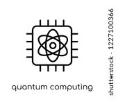 quantum computing icon. trendy... | Shutterstock .eps vector #1227100366