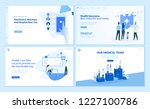 web page templates collection... | Shutterstock .eps vector #1227100786