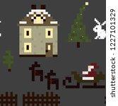 winter seamless pixel pattern....   Shutterstock .eps vector #1227101329