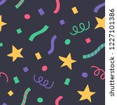 confetti and stars in a flat... | Shutterstock .eps vector #1227101386