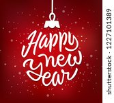 happy new year holiday card... | Shutterstock .eps vector #1227101389