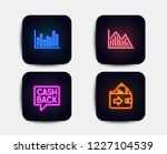 neon set of investment graph ... | Shutterstock .eps vector #1227104539