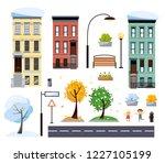flat cartoon style vector two... | Shutterstock .eps vector #1227105199
