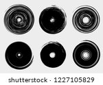 grunge vector circles. brush... | Shutterstock .eps vector #1227105829