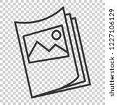 flyer leaflet icon in flat... | Shutterstock .eps vector #1227106129