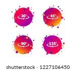 angle 30 135 degrees icons.... | Shutterstock .eps vector #1227106450