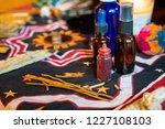 shaman spiritual tools on the... | Shutterstock . vector #1227108103