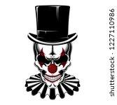 skull of a clown in a hat... | Shutterstock .eps vector #1227110986