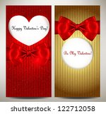valentine's day card set of... | Shutterstock .eps vector #122712058
