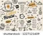 coffee house menu. restaurant... | Shutterstock .eps vector #1227121609