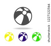 beach ball multicolored icons.... | Shutterstock .eps vector #1227122566