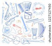 musical instruments continuous... | Shutterstock .eps vector #1227127450