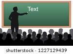 teacher near the blackboard... | Shutterstock .eps vector #1227129439