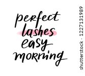 perfect lashes  easy morning.... | Shutterstock .eps vector #1227131989