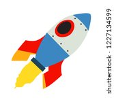 space rocket emoji vector flat... | Shutterstock .eps vector #1227134599