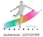 football concept. vector drawn... | Shutterstock .eps vector #1227137359