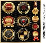 golden quality labels | Shutterstock .eps vector #122713810