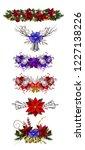 christmas decoration set   Shutterstock .eps vector #1227138226
