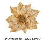 Gold Poinsettia Isolated On...