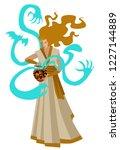 pandora opening box   Shutterstock .eps vector #1227144889