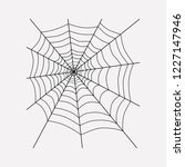 spiders web icon line element.... | Shutterstock .eps vector #1227147946