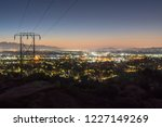 los angeles california predawn... | Shutterstock . vector #1227149269
