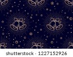 christmas pattern. seamless... | Shutterstock .eps vector #1227152926