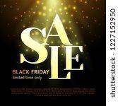 black friday luxury sale banner....   Shutterstock .eps vector #1227152950