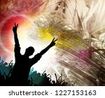 silhouette of dancing people | Shutterstock . vector #1227153163