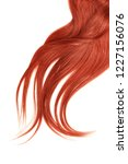 lush red hair isolated on white ... | Shutterstock . vector #1227156076