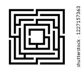 labyrinth game vector template... | Shutterstock .eps vector #1227157363