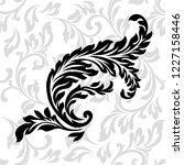 oriental vector damask patterns ... | Shutterstock .eps vector #1227158446
