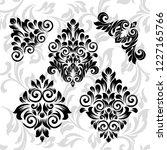 oriental vector damask patterns ...   Shutterstock .eps vector #1227165766